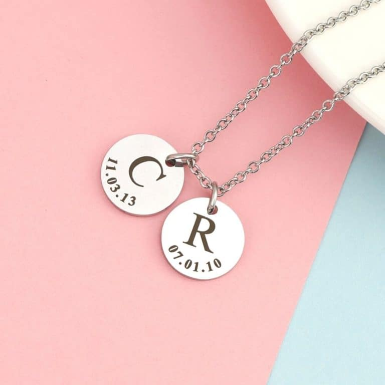 initial necklaces category